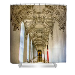 A Long Way Shower Curtain by Syed Aqueel