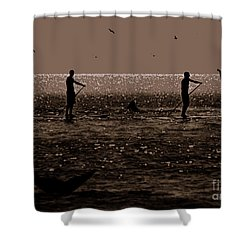 A Lot Goin' On Shower Curtain by Lydia Holly