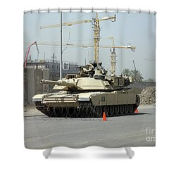 A M1 Abram Sits Out Front Of The New Shower Curtain by Terry Moore