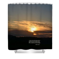 A Man Who Walks By Day Shower Curtain by Maria Urso