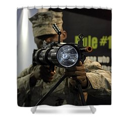 A Marine Tests The Night Hunter II Shower Curtain by Stocktrek Images
