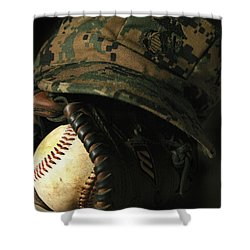 A Marines Athletic Gear Shower Curtain by Stocktrek Images