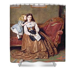 A Mother's Darling Shower Curtain by George Goodwin Kilburne