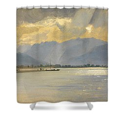 A Mountain Landscape Shower Curtain by Unknown