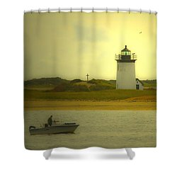 A New England Moment Shower Curtain by Karol Livote