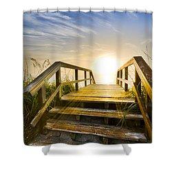A New Start Shower Curtain by Debra and Dave Vanderlaan
