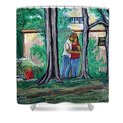 A Nice Day In Dominion Square  Shower Curtain