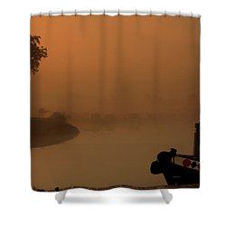 A Nice Place Shower Curtain by Linsey Williams