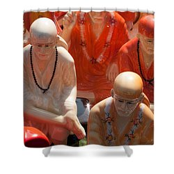 A Number Of Statues Of The Shirdi Sai Baba For Sale At Surajkund Mela Shower Curtain by Ashish Agarwal