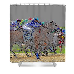 A Packed Field Shower Curtain by David Lee Thompson