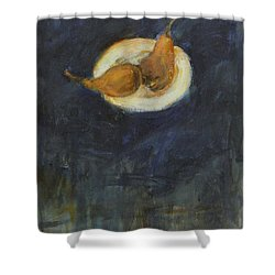 Shower Curtain featuring the painting A Pair by Kathleen Grace