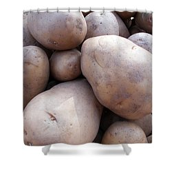 A Pile Of Large Lumpy Raw Potatoes Shower Curtain by Ashish Agarwal