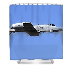 A Pilot In An A-10 Thunderbolt II Fires Shower Curtain by Stocktrek Images