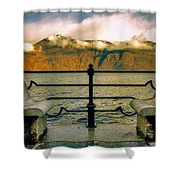 A Place For Two Shower Curtain by Joana Kruse