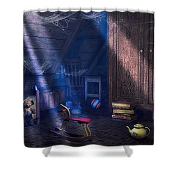 A Place Of Memories Shower Curtain by Jutta Maria Pusl