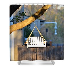 A Place To Perch Shower Curtain by Nikki Marie Smith
