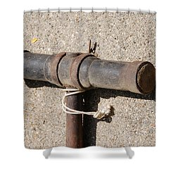 A Really Old Hammer Shower Curtain