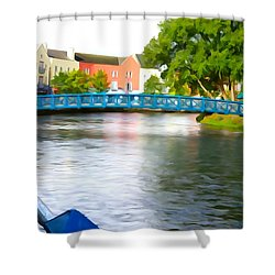 Shower Curtain featuring the photograph A River Runs Through It by Charlie and Norma Brock