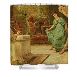 A Roman Dance Shower Curtain by Sir Lawrence Alma-Tadema