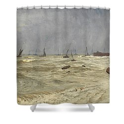 A Rough Day At Leigh Shower Curtain by William Pye
