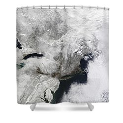 A Severe Winter Storm Shower Curtain by Stocktrek Images