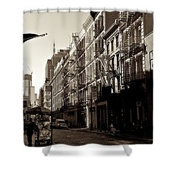 A Slice Of Soho Shower Curtain by Eric Tressler