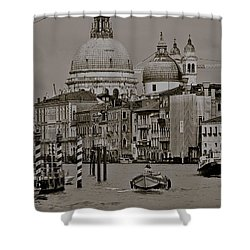 A Slice Of Venice Shower Curtain by Eric Tressler