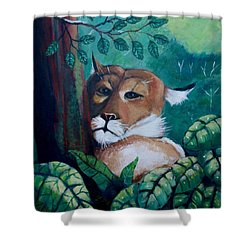 A Slightly Shy Furtive Look Shower Curtain