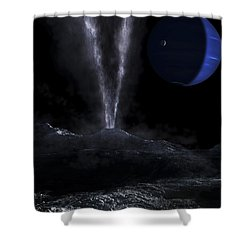 A Small Geyser On The Surface Shower Curtain by Fahad Sulehria