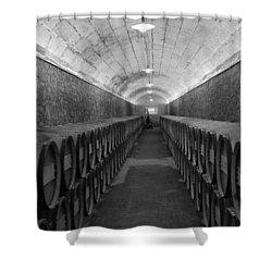 A Spanish Cellar Shower Curtain by John Stuart Webbstock
