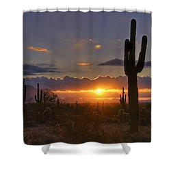 A Spectacular Sunrise  Shower Curtain by Saija  Lehtonen