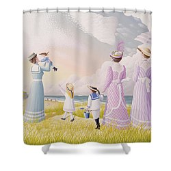 A Stroll On The Dunes Shower Curtain by Peter Szumowski