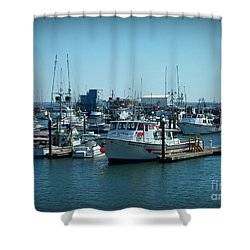 A Sunny Nautical Day Shower Curtain
