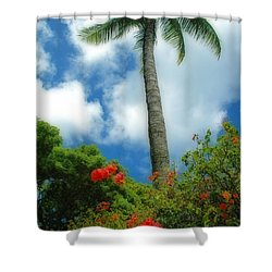 A Touch Of The Tropics Shower Curtain by Lynn Bauer