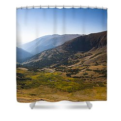 A Tundra Valley In The Colorado Rockies Shower Curtain by Ellie Teramoto
