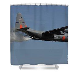 A U.s. Air Force C-130 Hercules Shower Curtain by Stocktrek Images