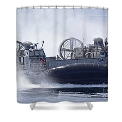 A U.s. Marine Corps Landing Craft Air Shower Curtain by Stocktrek Images