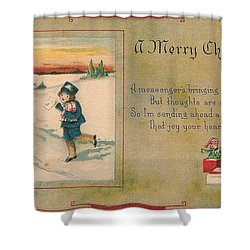 A Very Merry Christmas Shower Curtain by Angela Wright