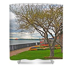 Shower Curtain featuring the photograph A View From The Garden by Michael Frank Jr