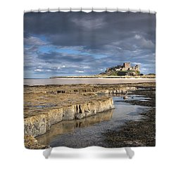 A View Of Bamburgh Castle Bamburgh Shower Curtain by John Short