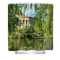 A View Of The Parthenon 11 Shower Curtain by Douglas Barnett