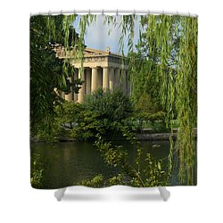 A View Of The Parthenon 3 Shower Curtain by Douglas Barnett