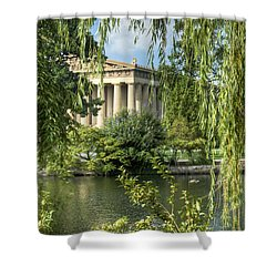 A View Of The Parthenon 5 Shower Curtain by Douglas Barnett