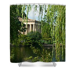 A View Of The Parthenon 9 Shower Curtain by Douglas Barnett