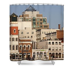 A View Of The Skyline Of Victoria Shower Curtain by Taylor S. Kennedy