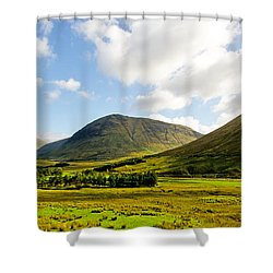 A View Over Rannoch Moor Shower Curtain by Chris Thaxter