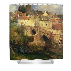 A Village In East Linton Haddington Shower Curtain by James Paterson