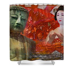 A Vision Of The History Of Japan  Shower Curtain