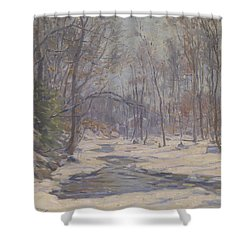 A Winter Morning  Shower Curtain by Frank Townsend Hutchens