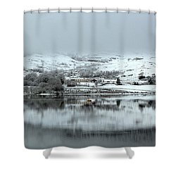 Shower Curtain featuring the photograph A Winter's Scene by Lynn Bolt
